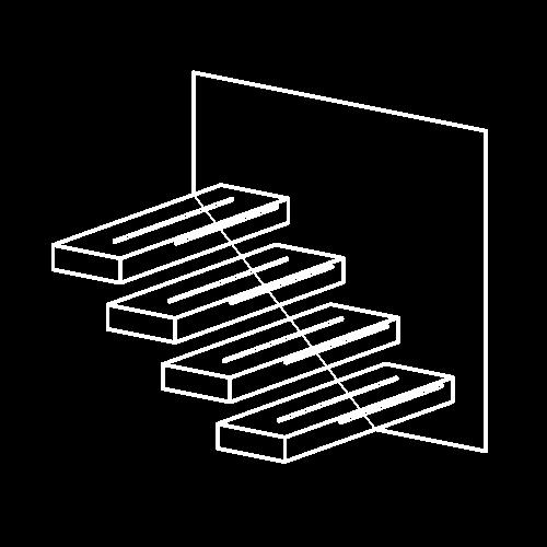Icon Kragarmstiege weiß