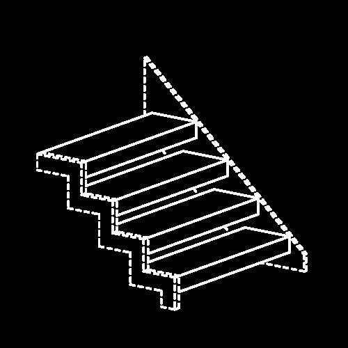 Icon Stahlstiege weiß