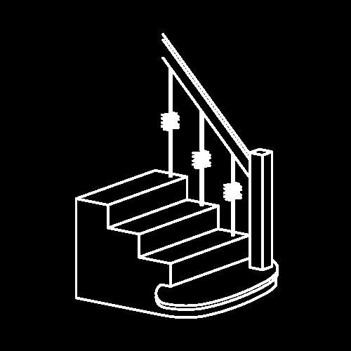 Icon Stilstiege weiß