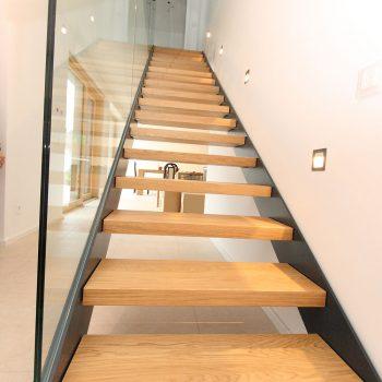 Stahlstiege in Eiche geölt Raum St. Margarethen