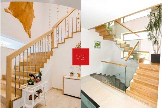 Holzstiege für Beton oder freitragende Stiegen