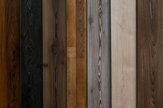 verschiedene Holzarten